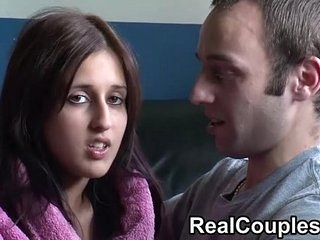 Real couple Zarina and Jay chat before having sex