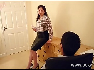 Desi bhabhi m. and f. to fuck boss POV Indian