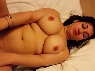 Super Hot n Sexy Desi Wife Boob Press & Pussy Show