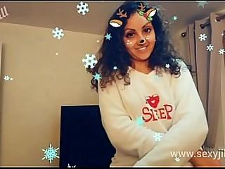 Sunny Leone sister POV Christmas hot sexy desi indian bhabhi sloppy blowjob on public s.