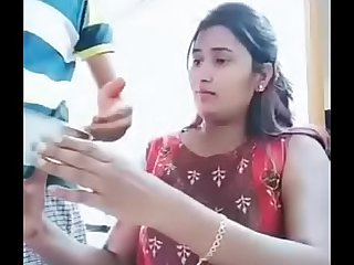 Swathi naidu enjoying while cooking with her boyfriend