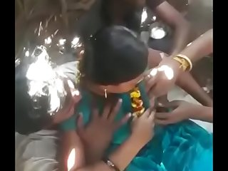 Desi village auntie group gang bang